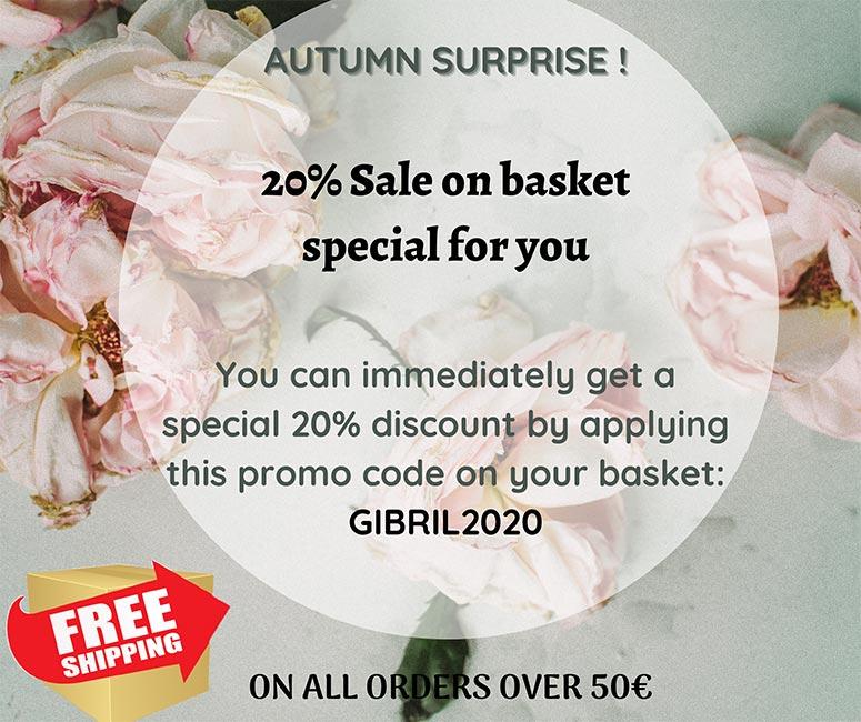 Gibril & Gabrielle Autumn Sale 2020 popup