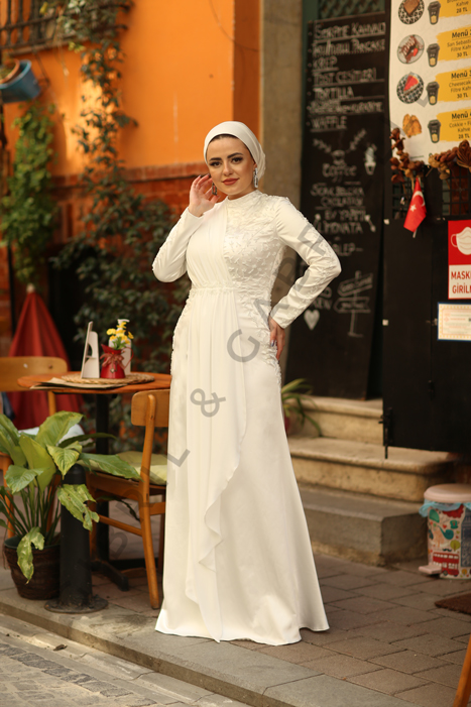 Açelya Beyaz Elbise