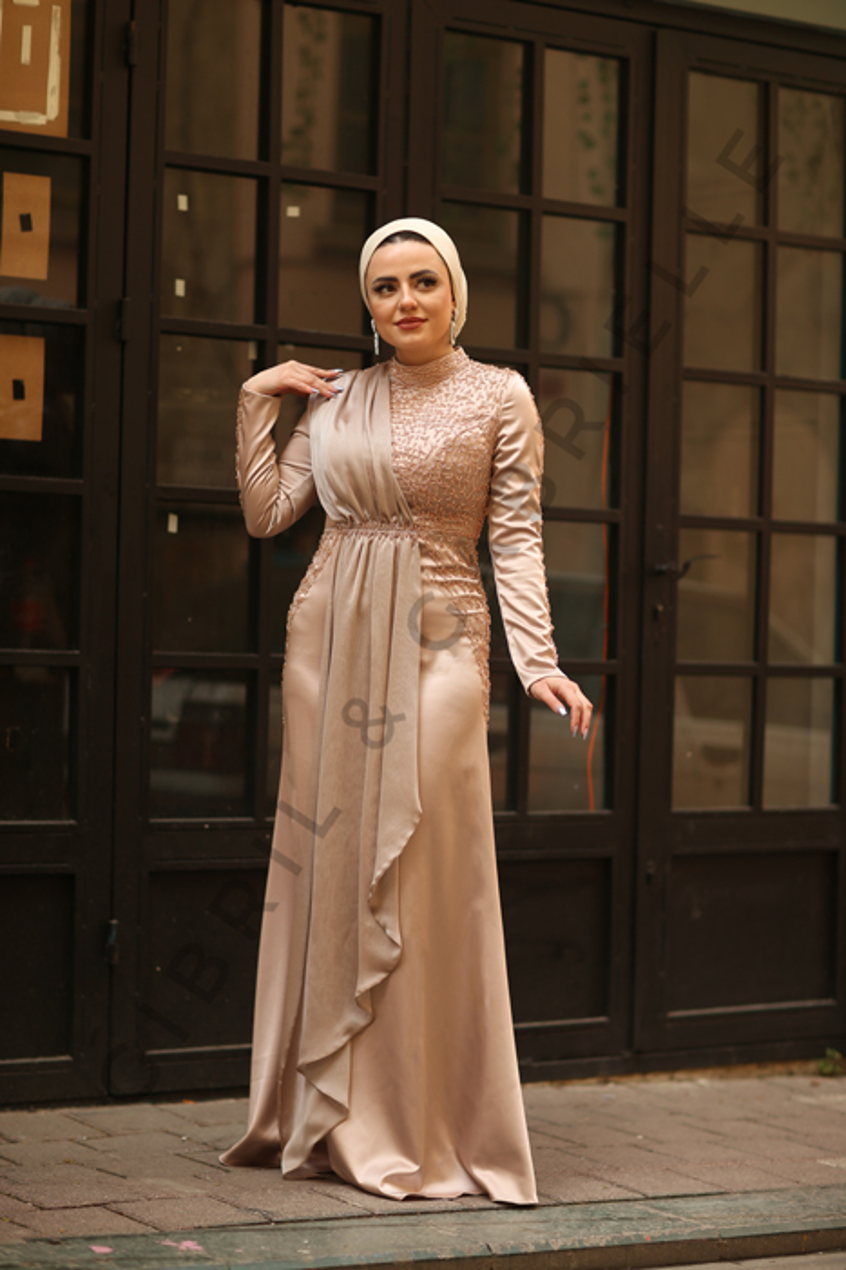 Gibril & Gabrielle - Açelya Krem Elbise