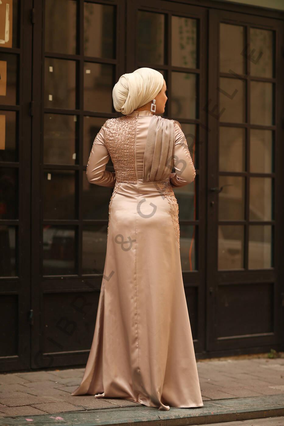 Açelya Krem Elbise