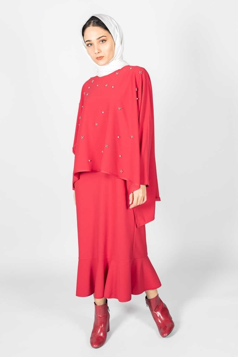 Gibril & Gabrielle - Alya Suit Red