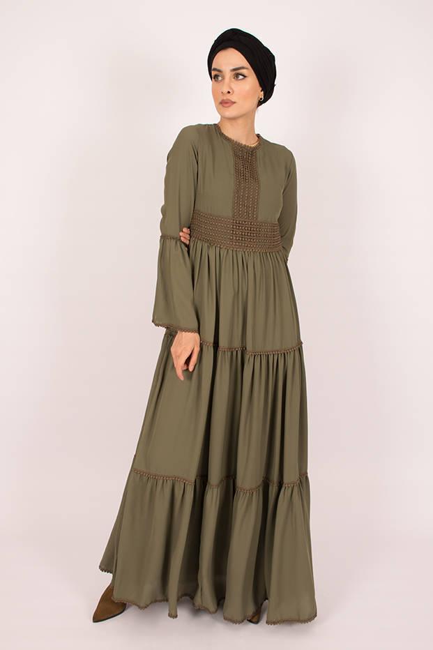Gibril & Gabrielle - Amelia Khaki Dress