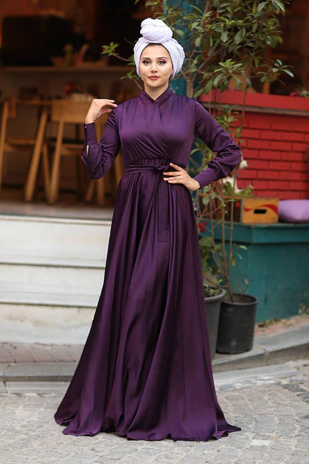 Aubergine Mennel Dress