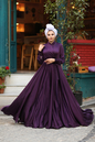 Gibril & Gabrielle - Aubergine Mennel Dress