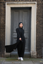 Gibril & Gabrielle - Aya Co-ord Knit Dress and Cardigan - Black