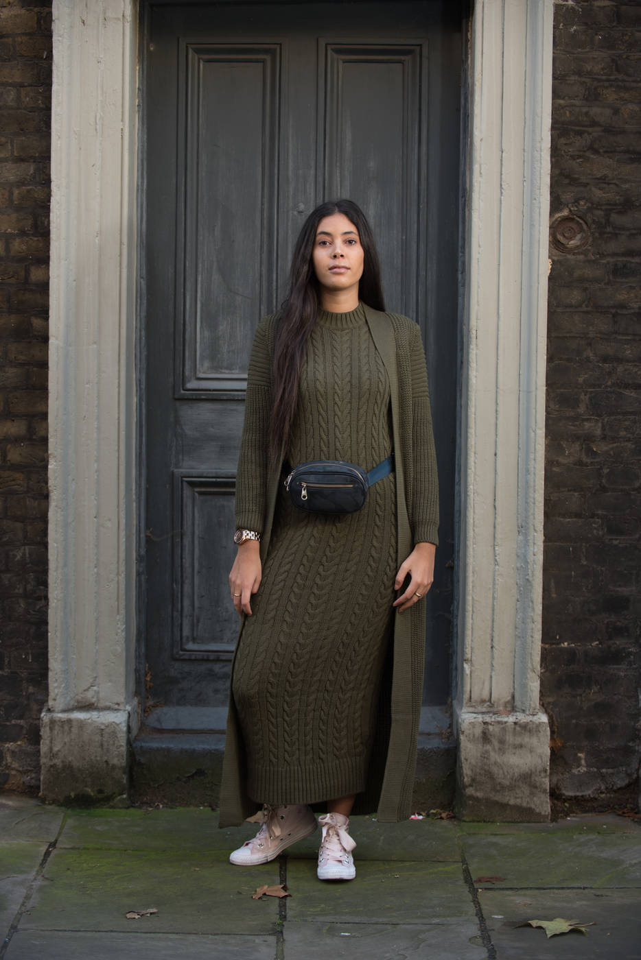 Gibril & Gabrielle - Aya Co-ord Knit Dress and Cardigan - Kaki