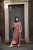 Aya Co-ord Knit Dress and Cardigan - Old Pink - Thumbnail