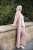 Aya Co-ord Knit Dress and Cardigan - Pink - Thumbnail