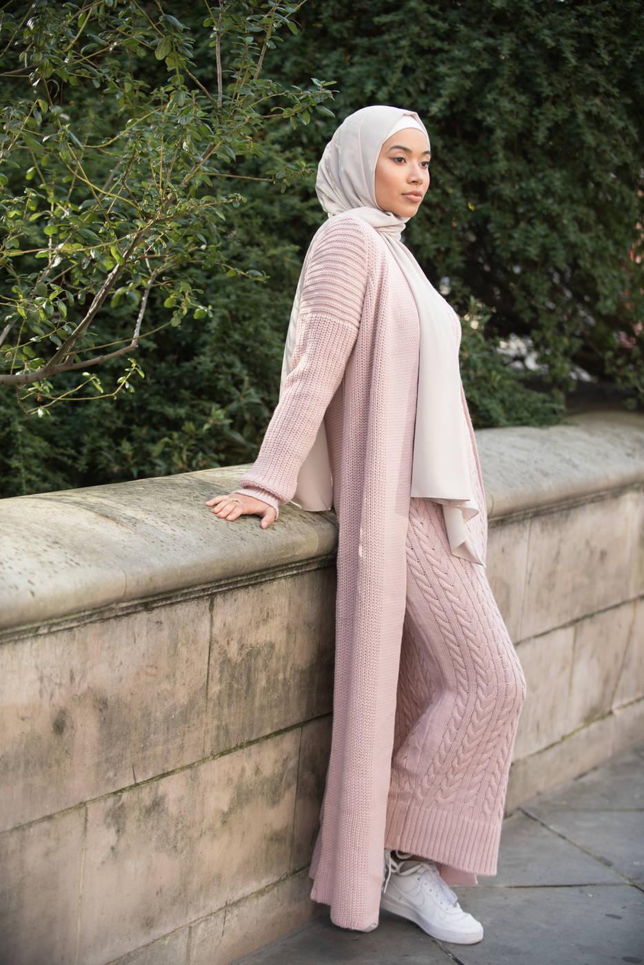 Aya Co-ord Knit Dress and Cardigan - Pink