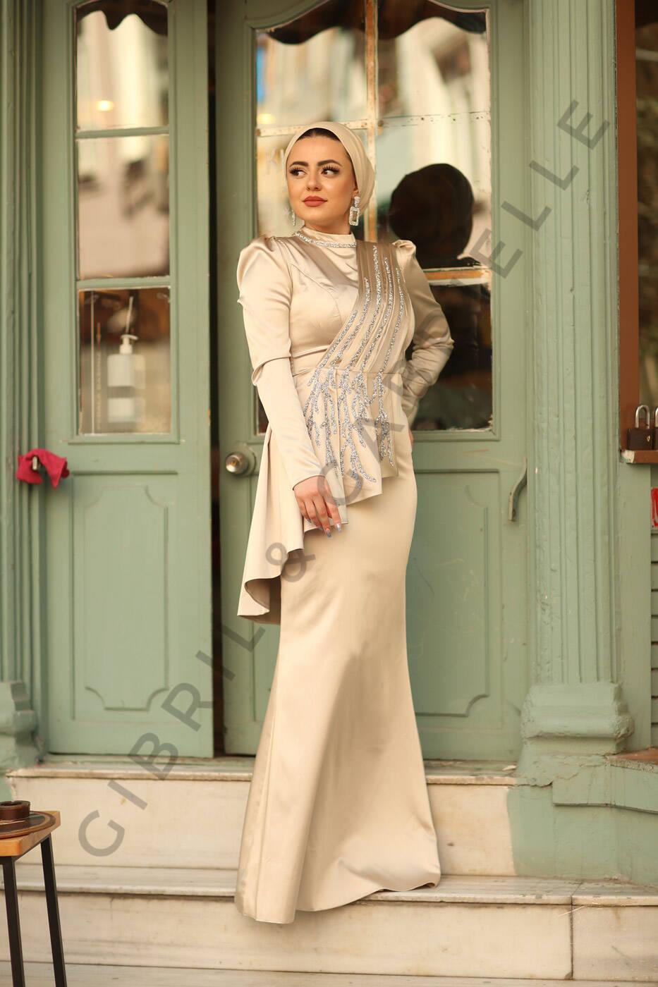 Gibril & Gabrielle - Azra Krem Elbise