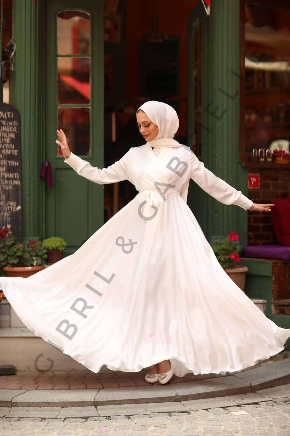 Gibril & Gabrielle - Beyaz Mennel Elbise