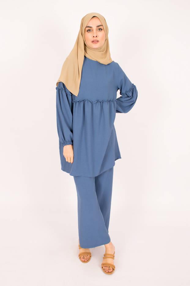 Gibril & Gabrielle - Blue Firdevs Suit