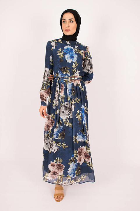 Gibril & Gabrielle - Blue Jasmin Dress