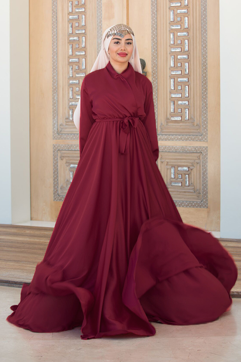 Burgundy Mennel Dress
