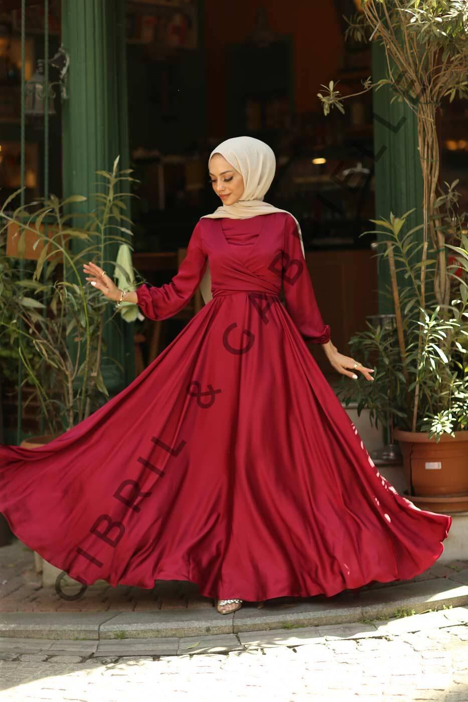 Gibril & Gabrielle - Yasemin Dress - Burgundy