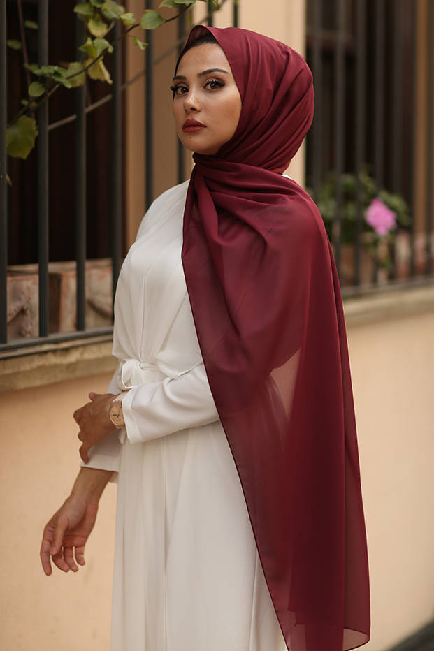 Gibril & Gabrielle - Bursa Silk Hijab - Maroon