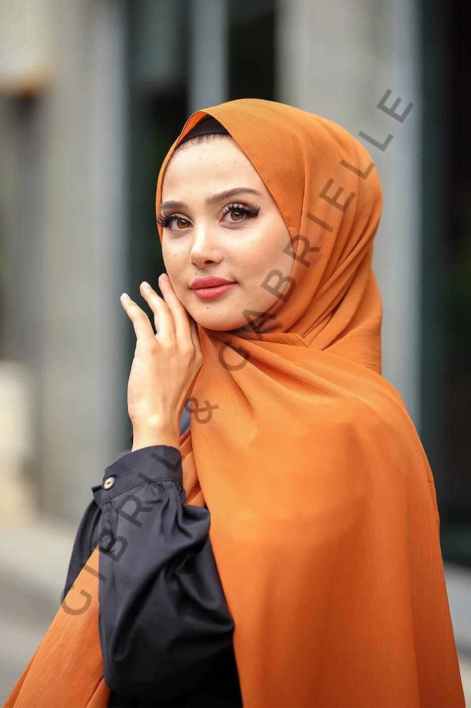 Krinkil Hijab - Caramel