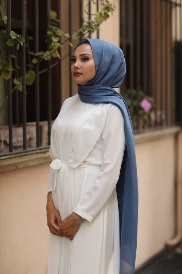 Gibril & Gabrielle - Chiffon Hijab - Blue