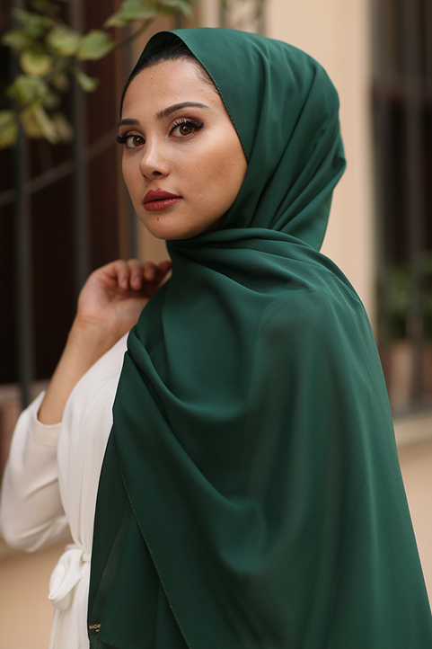 Gibril & Gabrielle - Chiffon Hijab - Mose Green