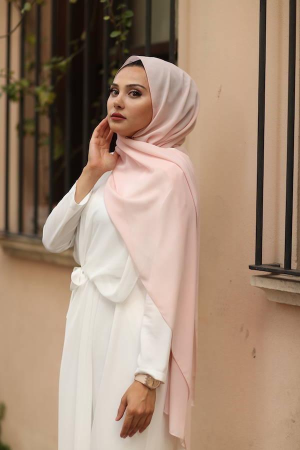 Gibril & Gabrielle - Chiffon Hijab - Pink