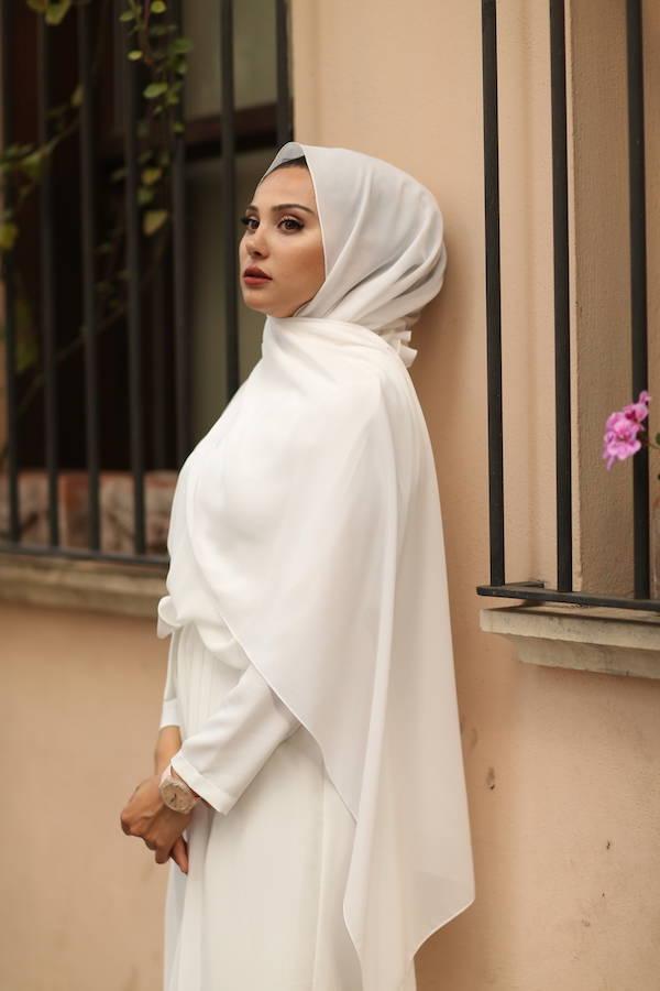 Gibril & Gabrielle - Chiffon Hijab - White