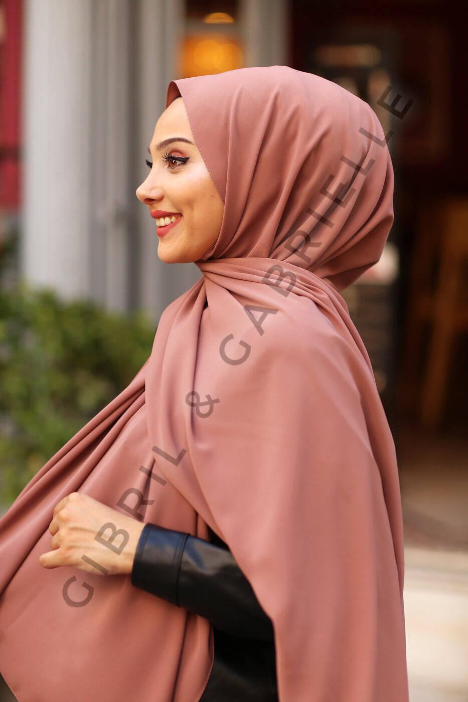 Gibril & Gabrielle - Madina Silk Hijab - Soft Cofee