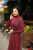 Mina Plum Dress - Thumbnail