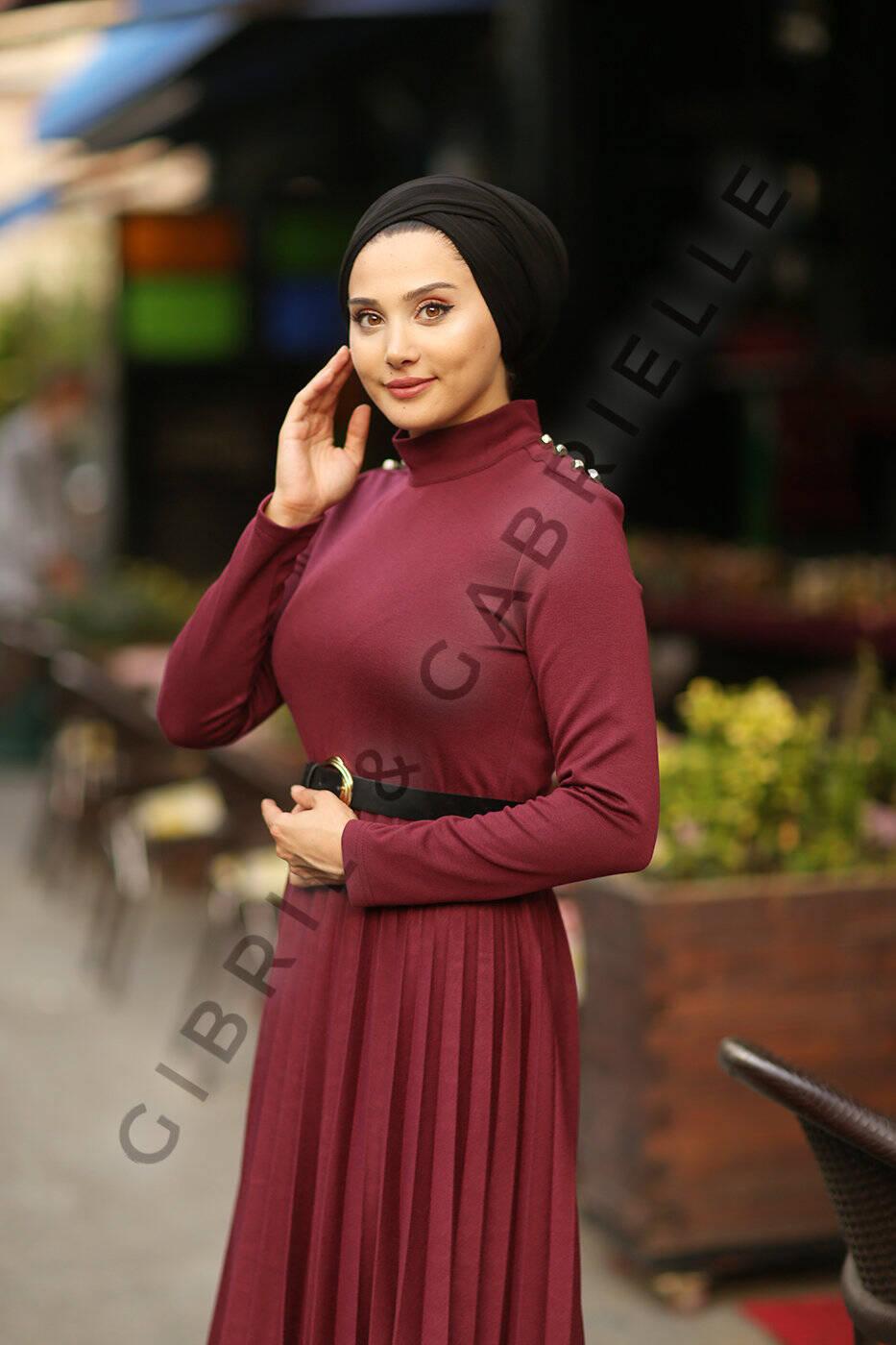 Mina Plum Dress