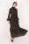 Flowers Black Dress - Thumbnail