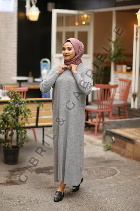 Gibril & Gabrielle - Grey Açelya Knit Dress