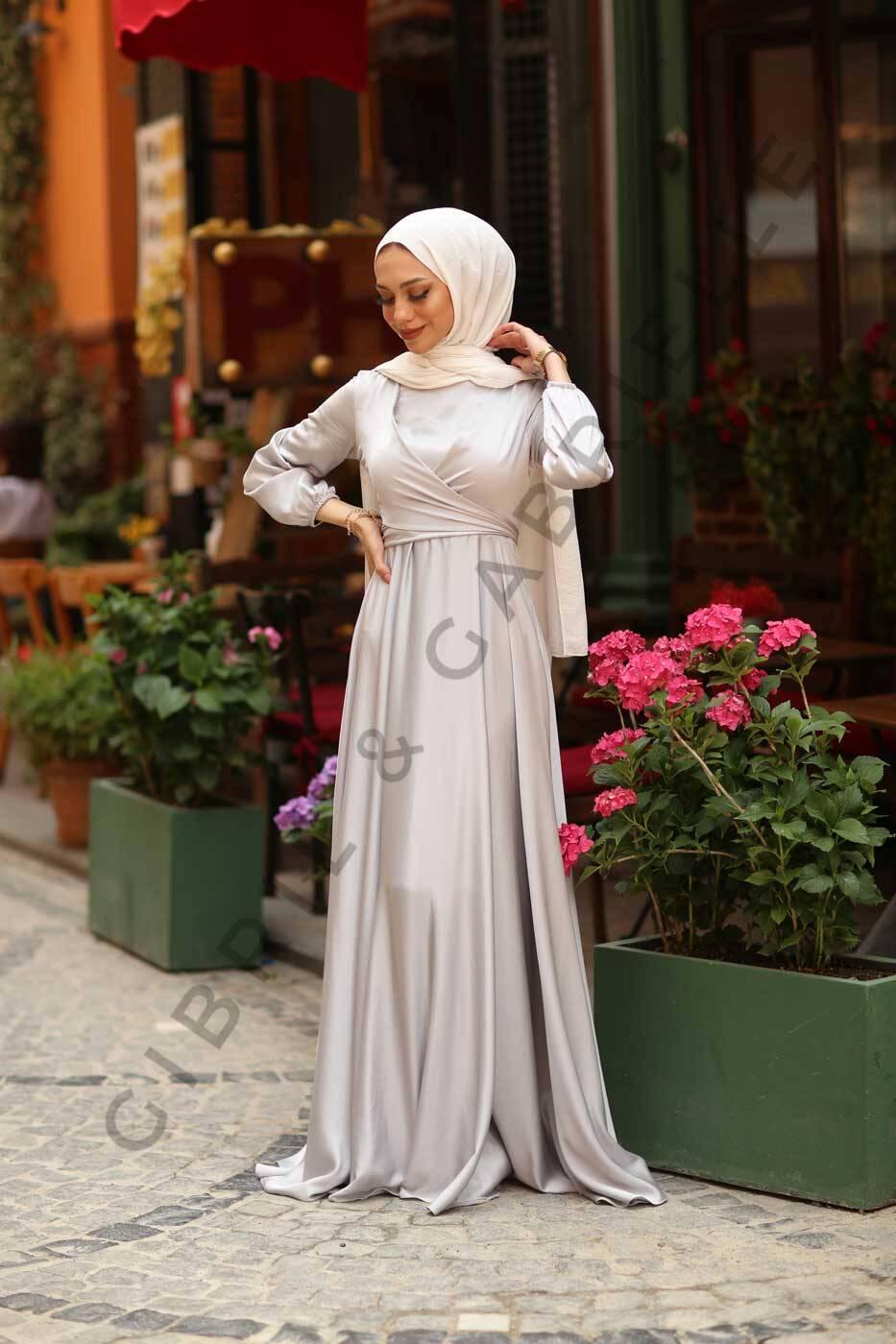 Gümüş Yasemin Elbise