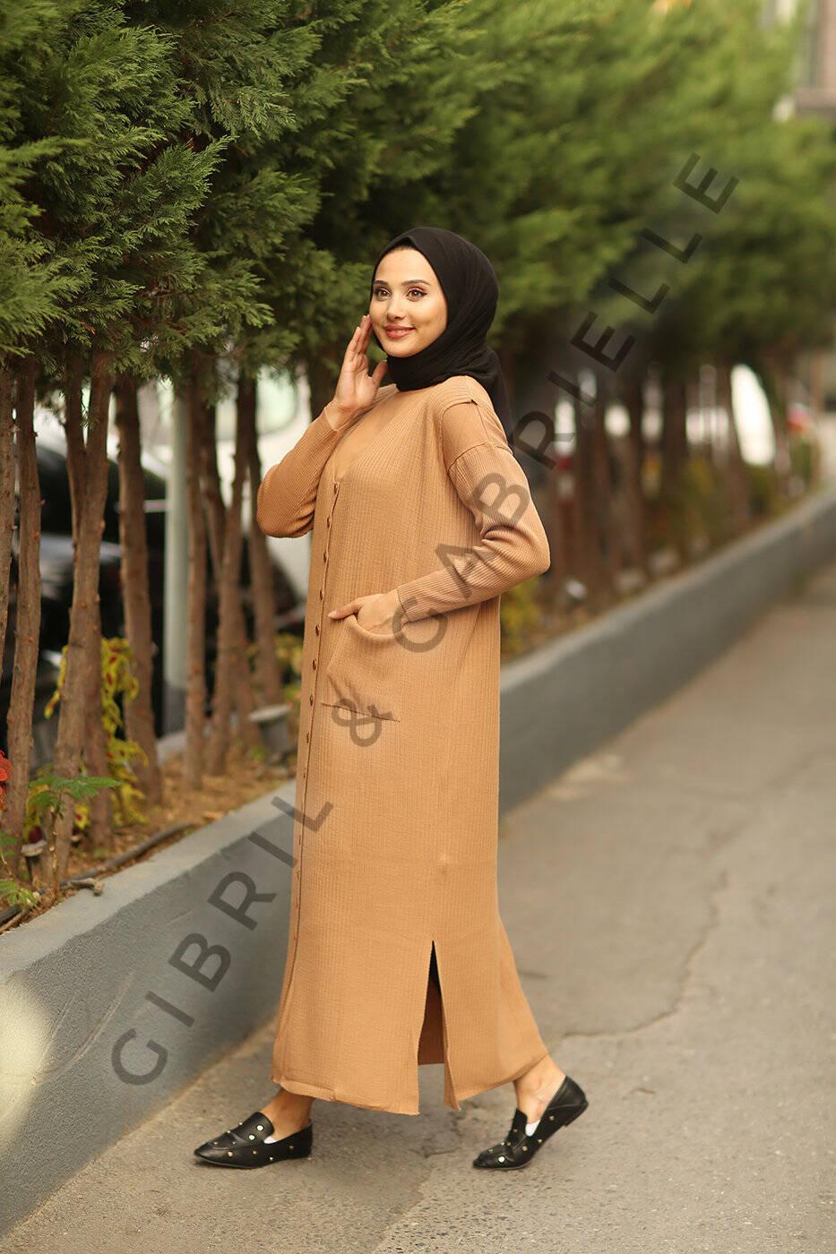 Ikra Knit Cardigan - Camel