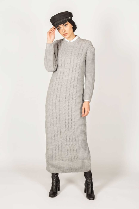 Inaya Dress Grey