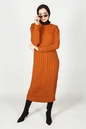Inaya Dress Rust - Thumbnail