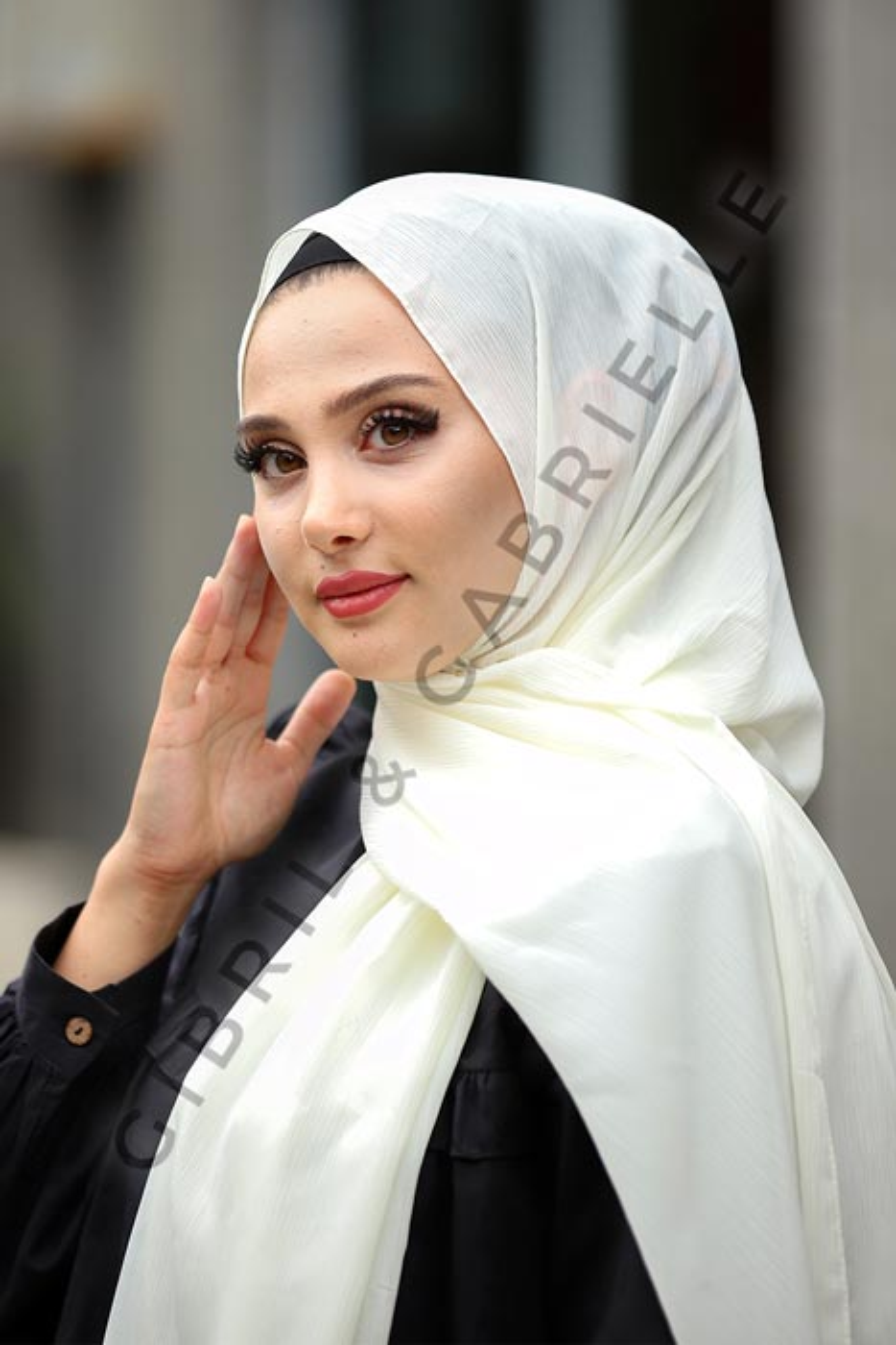 Krinkil Hijab - Ivory