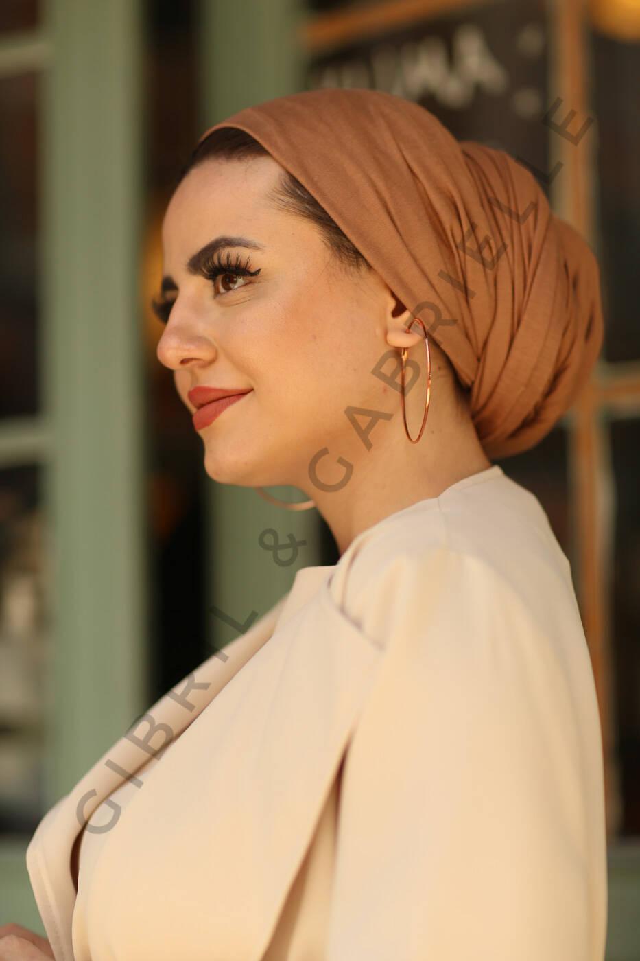 Gibril & Gabrielle - Jersey Hijab - Caramel
