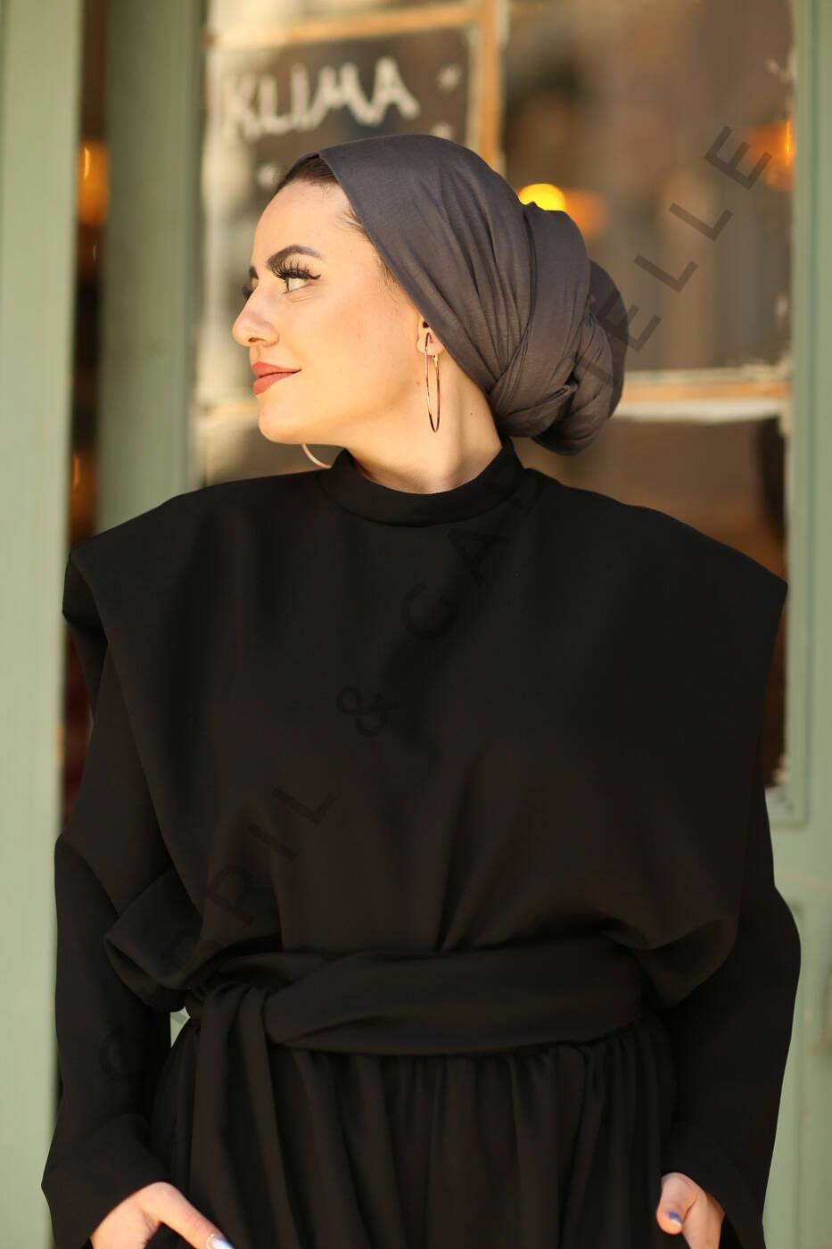 Gibril & Gabrielle - Jersey Hijab - Anthracite