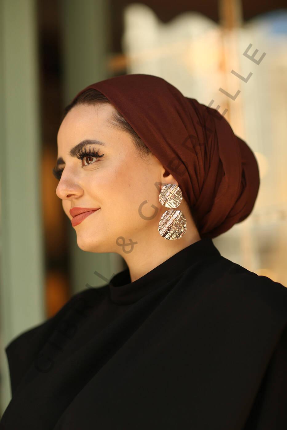 Gibril & Gabrielle - Jersey Hijab - Brown