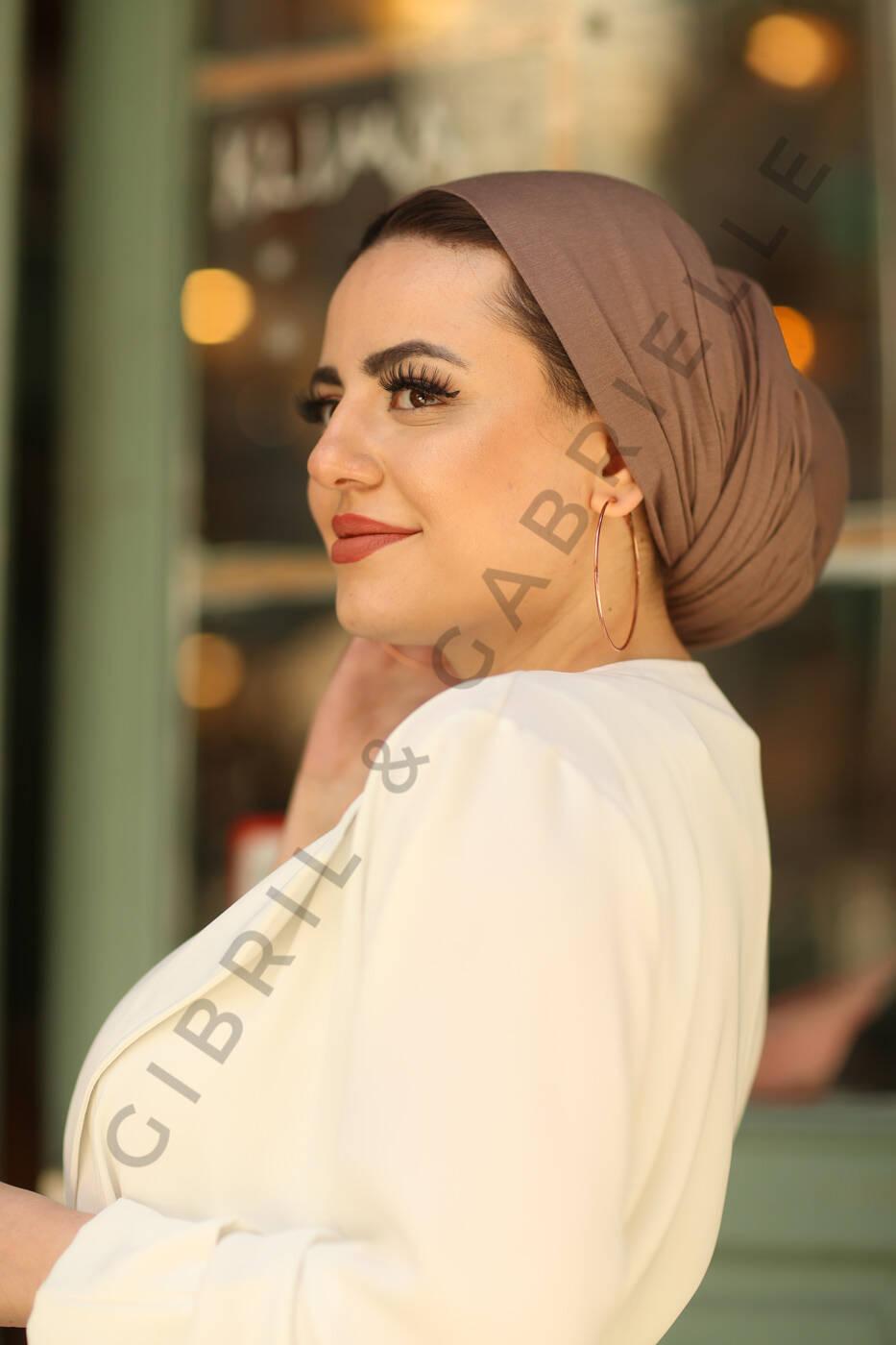 Gibril & Gabrielle - Jersey Hijab - Light Brown