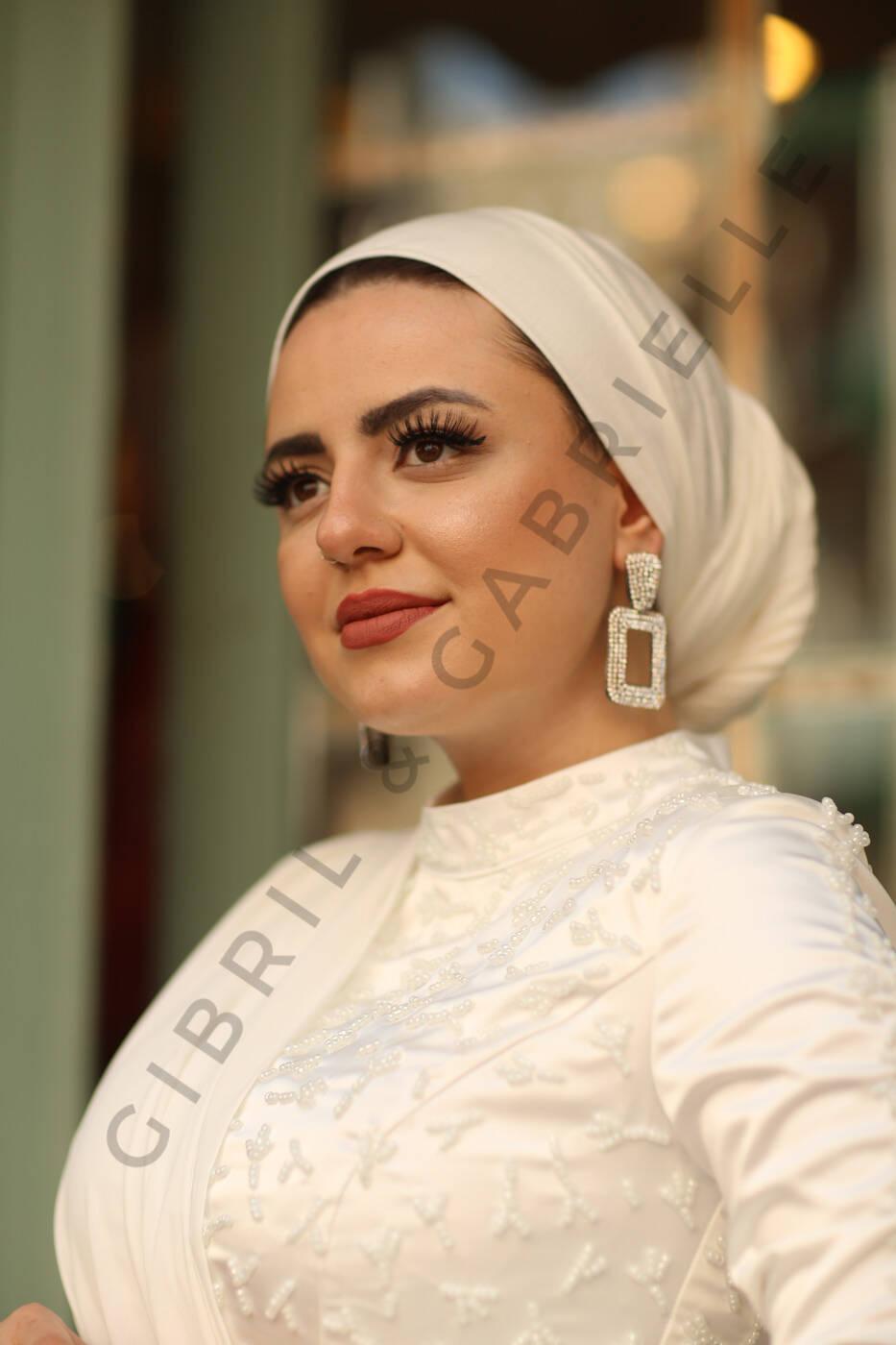 Gibril & Gabrielle - Jersey Hijab - White