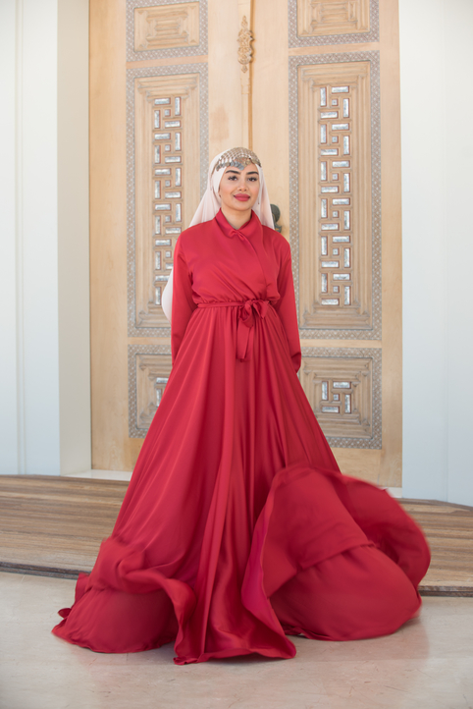 Gibril & Gabrielle - Kırmızı Mennel Elbise