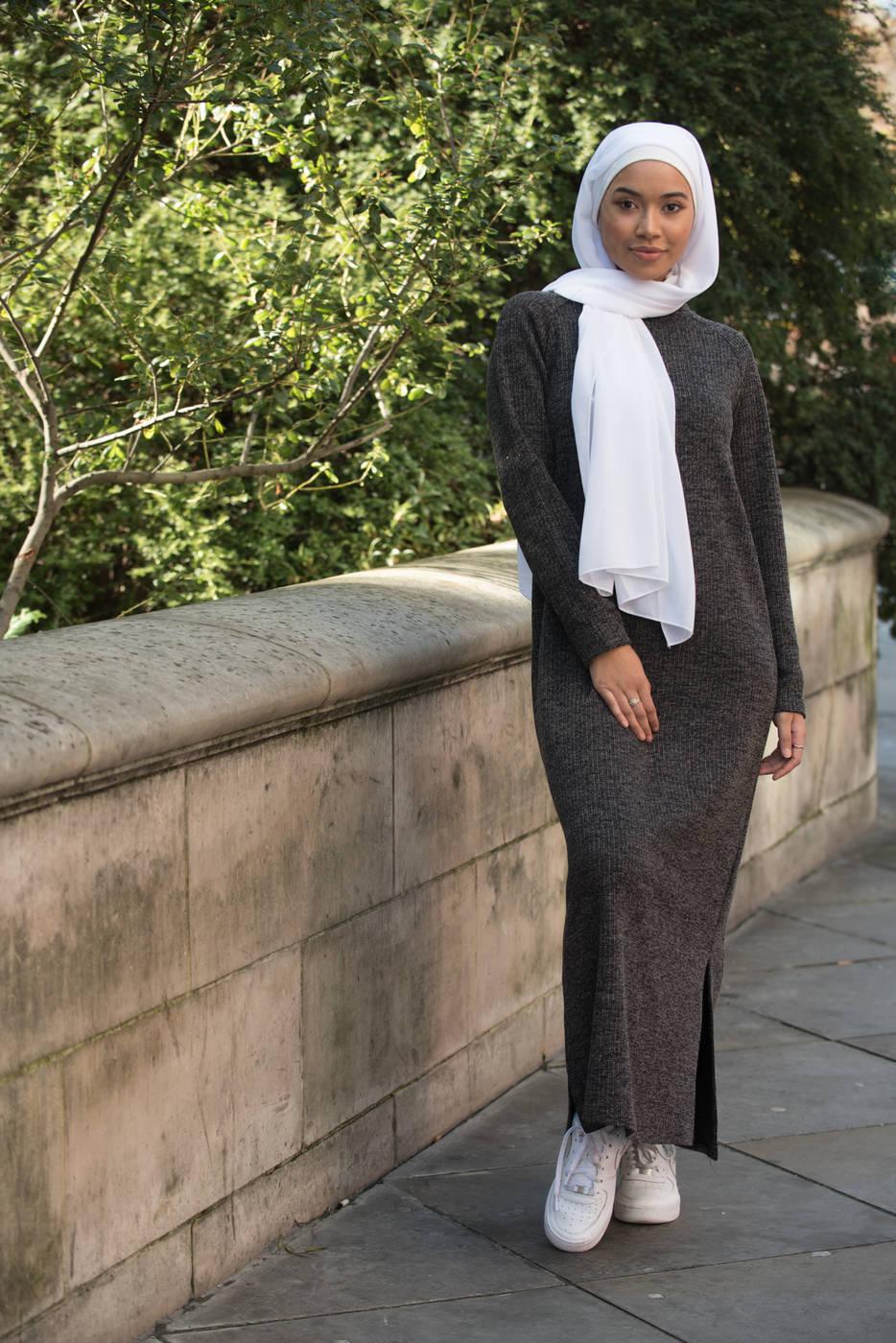 Gibril & Gabrielle - Koyu Gri Soso Tunik Elbise