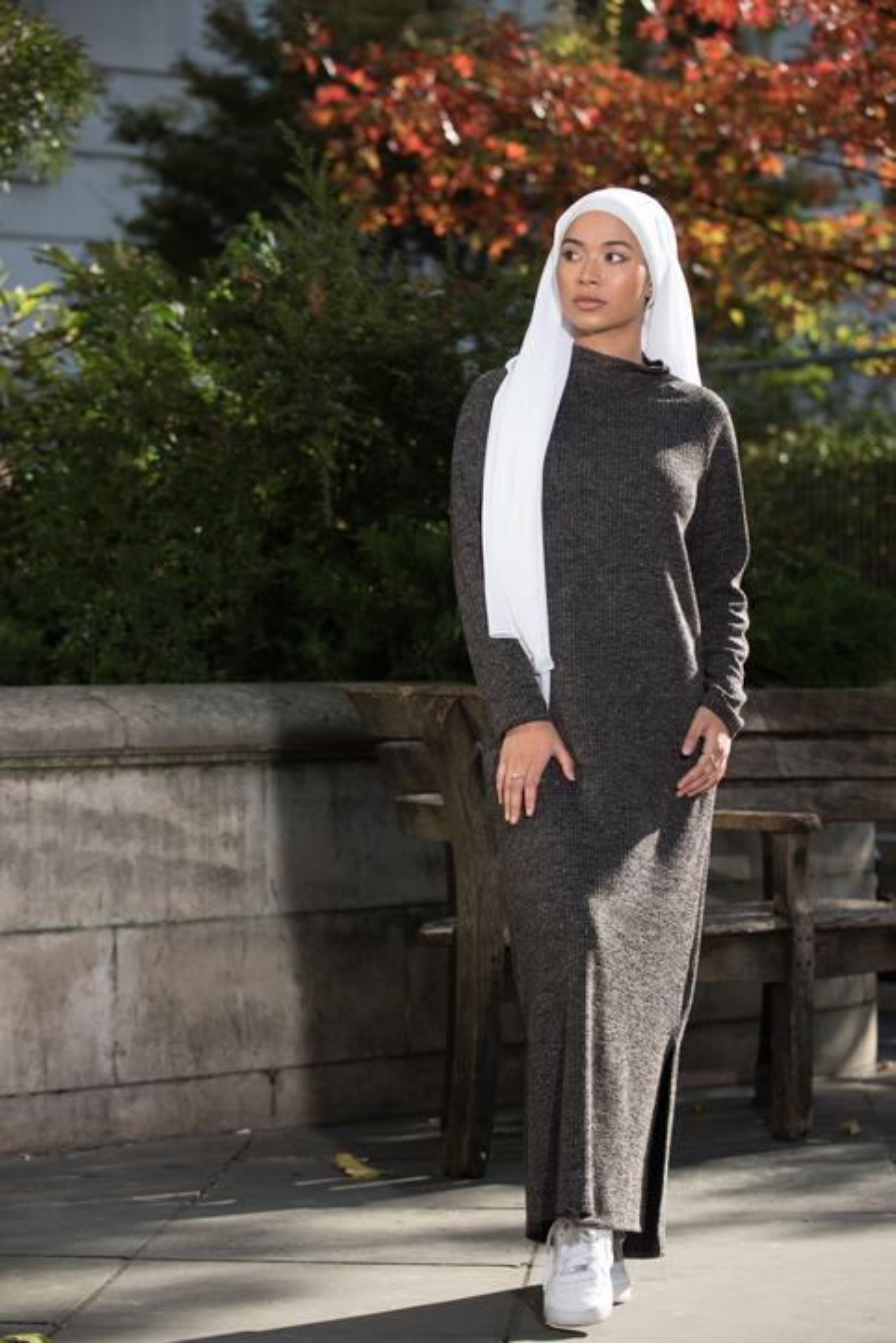 Koyu Gri Soso Tunik Elbise
