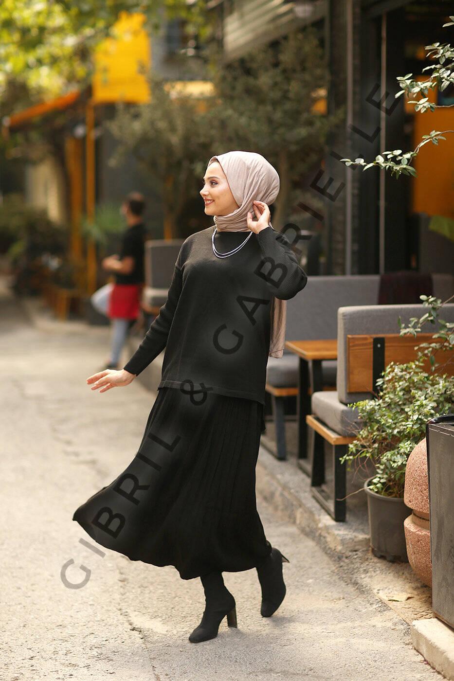 Lara Knit Suit - Black