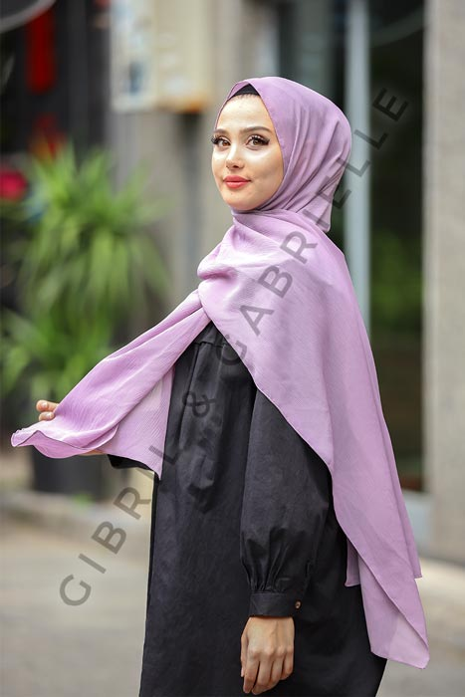 Gibril & Gabrielle - Krinkil Hijab - Lavender