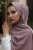 Lila Medine İpek Başörtüsü - Thumbnail