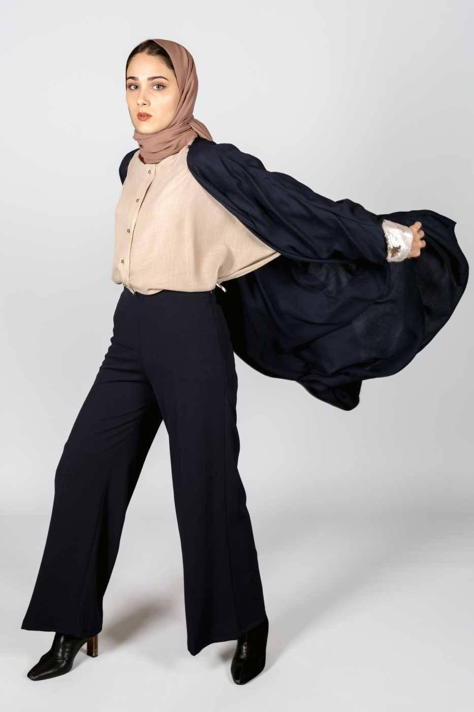 Linda Trousers Dark Blue