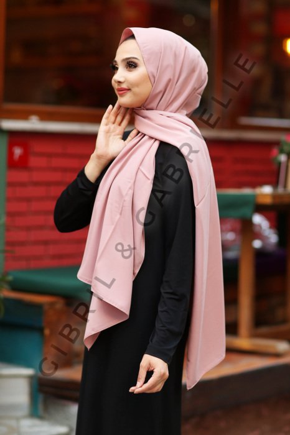 Gibril & Gabrielle - Madina Silk Hijab - Almond Pink