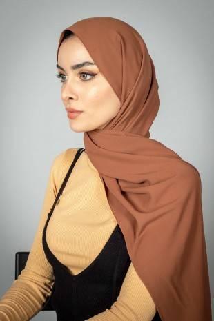 Madina Silk Hijab - Camel