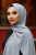 Madina Silk Hijab - Grey - Thumbnail